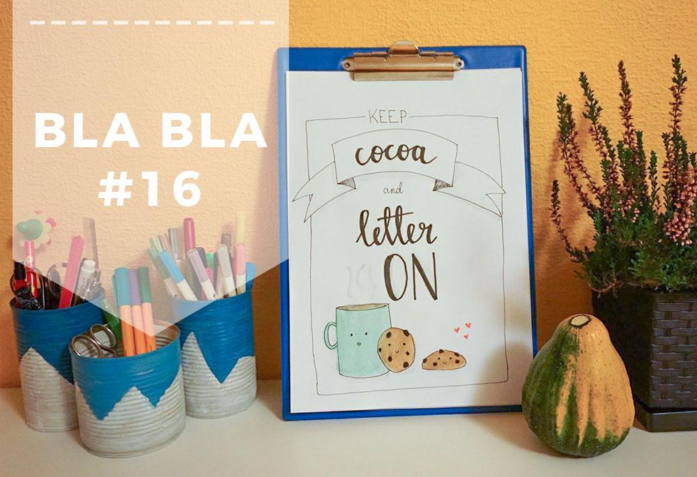 Blabla 16 - Hand lettering, Doodling, Kreatywność, zakupy