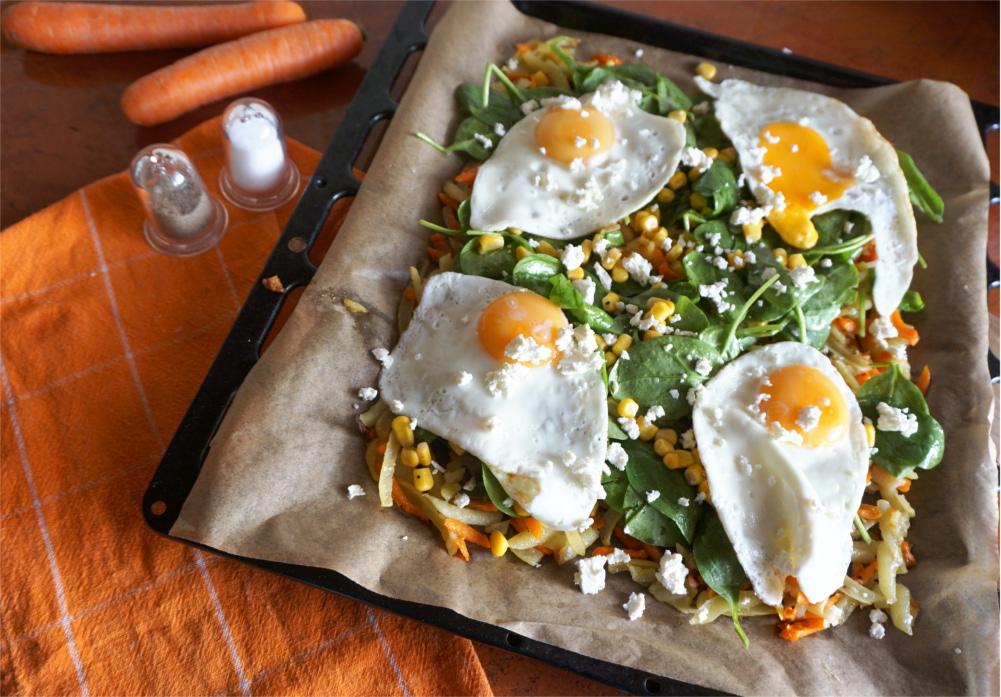Przepis na pieczone warzywne rosti