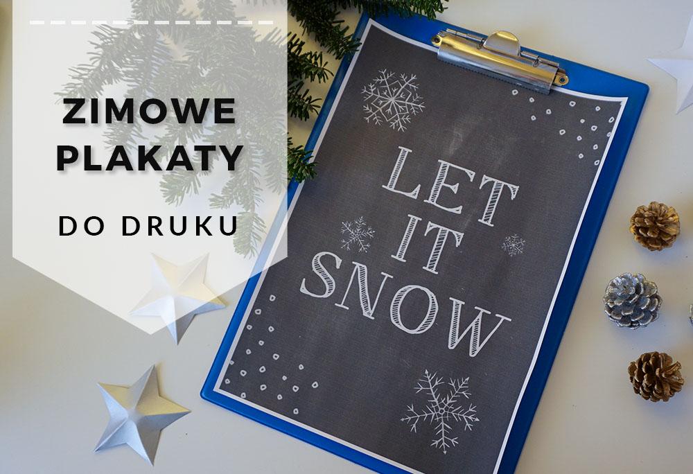 Zimowe plakaty do druku