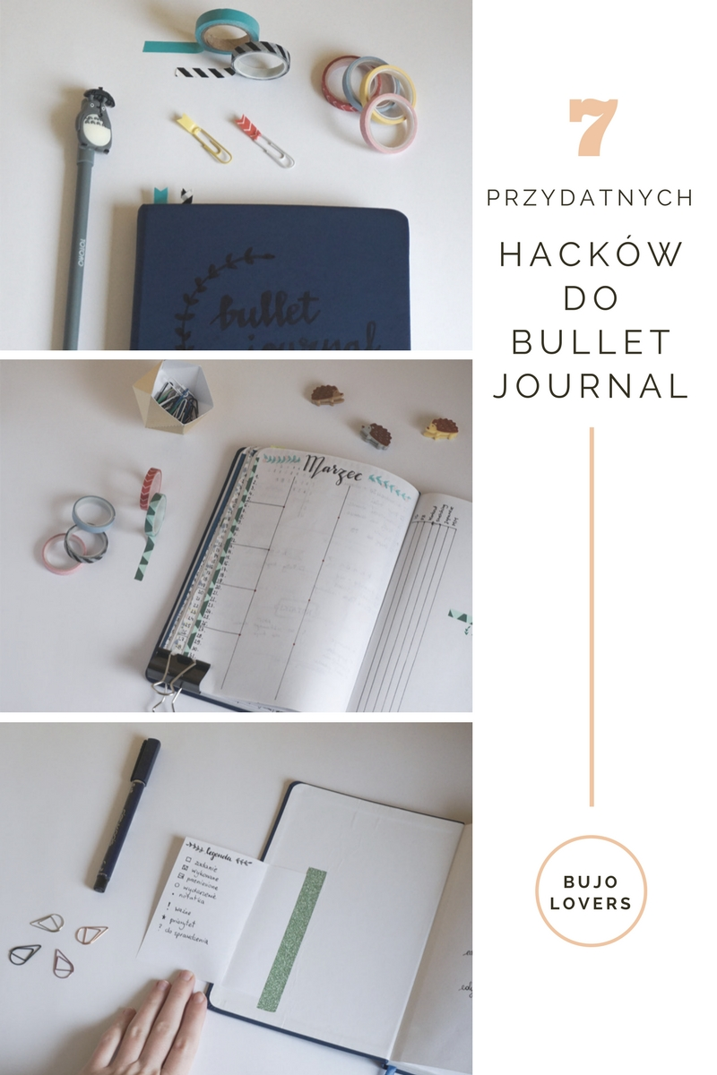 Przydatne hacki do bullet journal // Bujo hacks