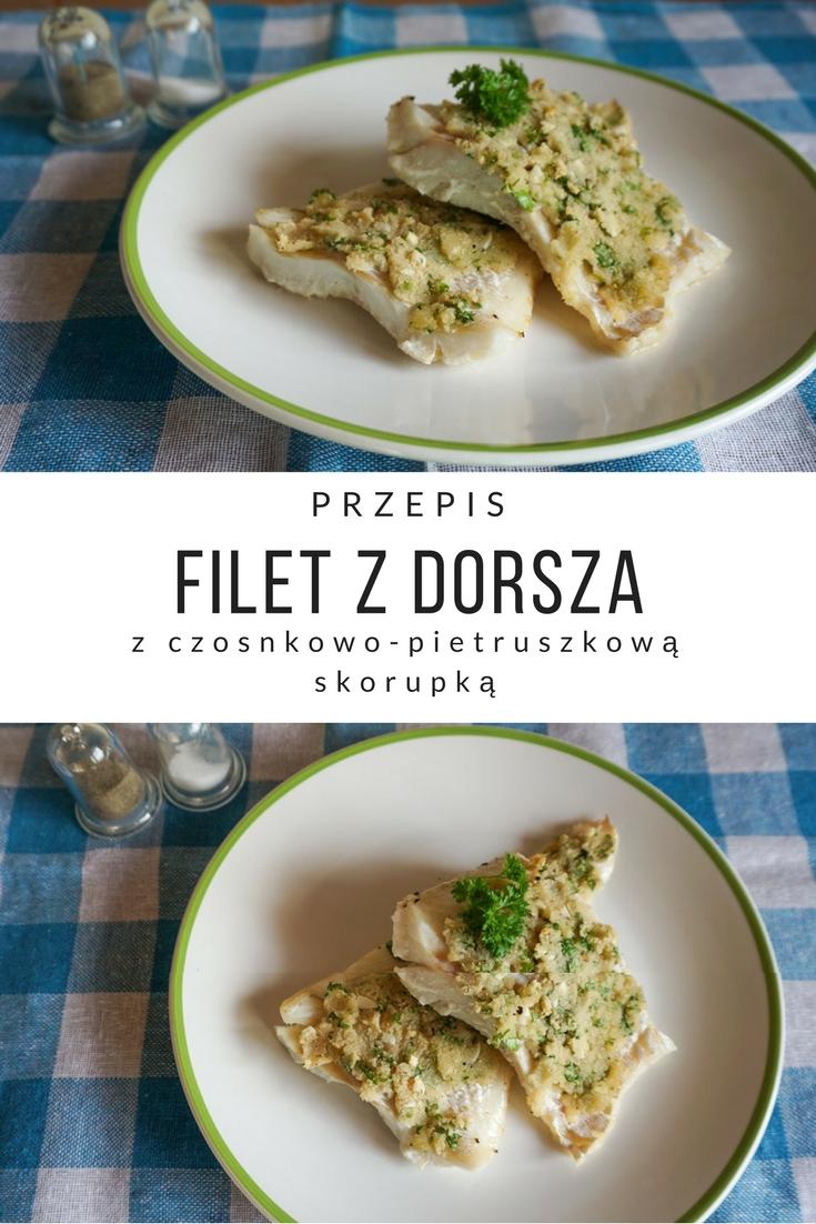 Przepis na Filet z dorsza z czosnkowo-pietruszkową skorupką