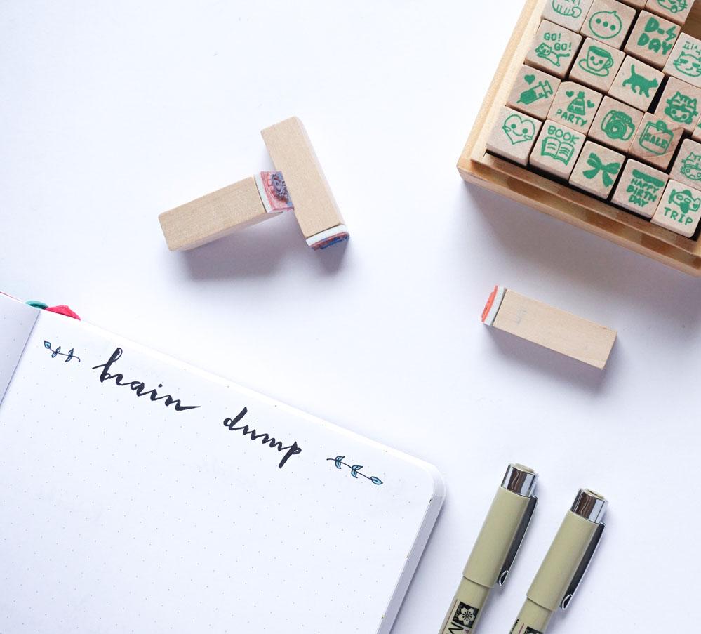 Listy i kolekcje w moim bullet journal - brain dump