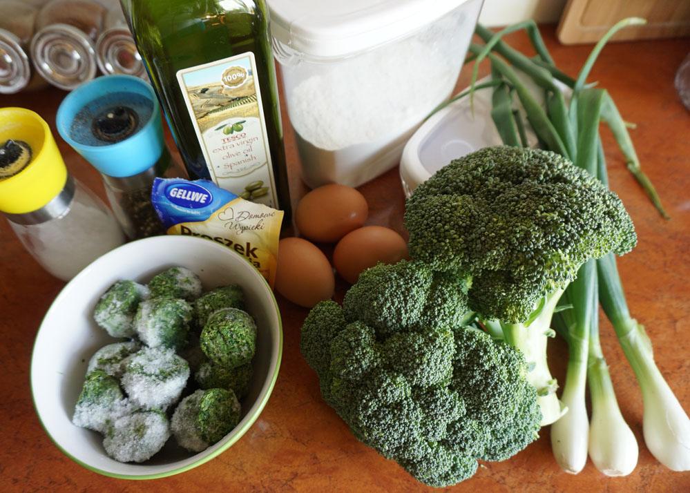 Pieczone naleśniki brokułowo-szpinakowe