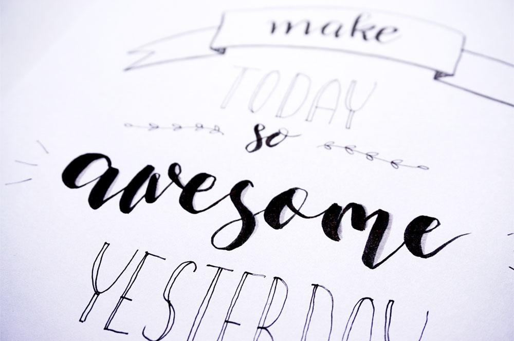 Co to jest hand lettering + jak zrobić swój plakat motywacyjny