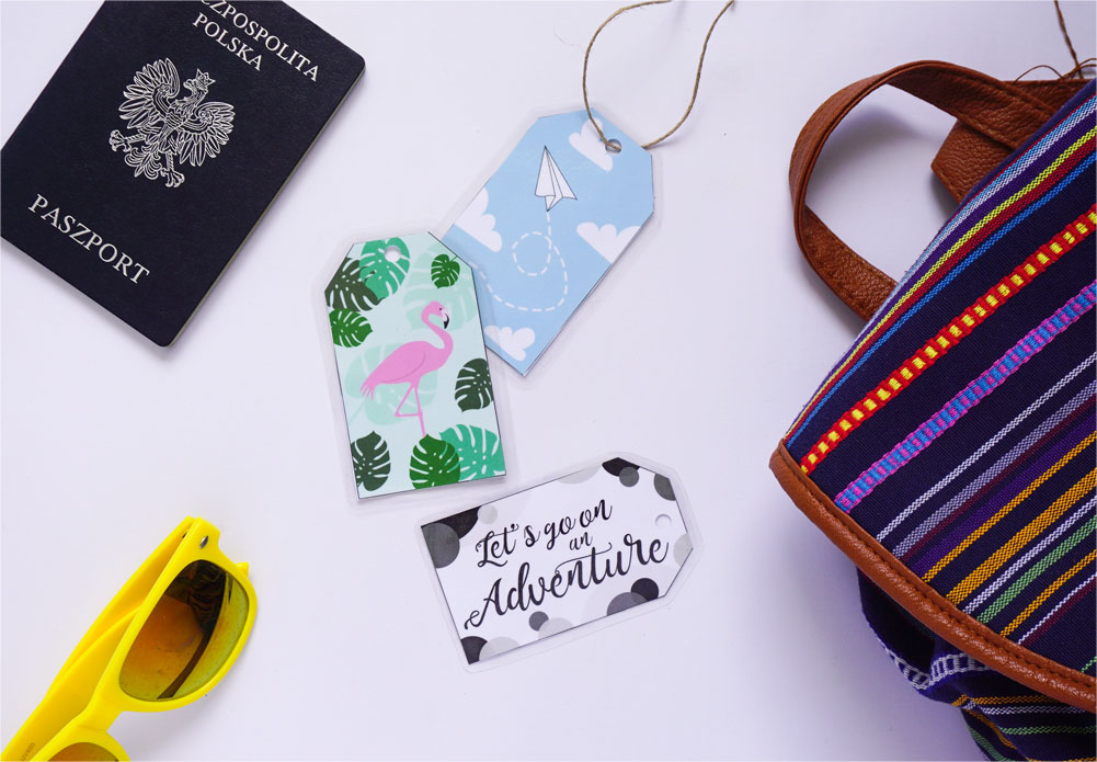 DIY Zawieszki na bagaż do druku + laminowanie bez laminatora