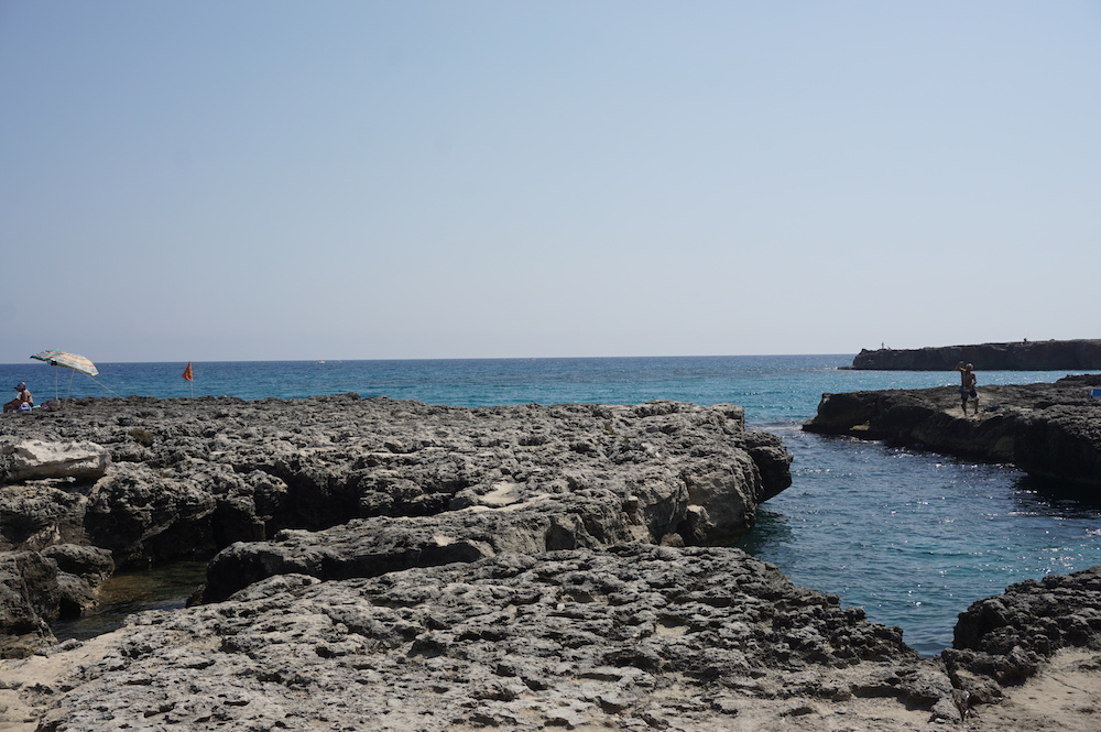 Plaże Apulii - Puglia co zobaczyć Spiaggia di Punta Sapone