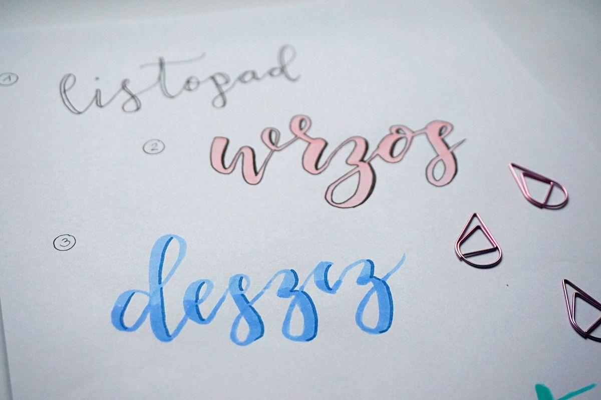 Inspiracje Hand lettering - jak ozdabiać litery - pomysły