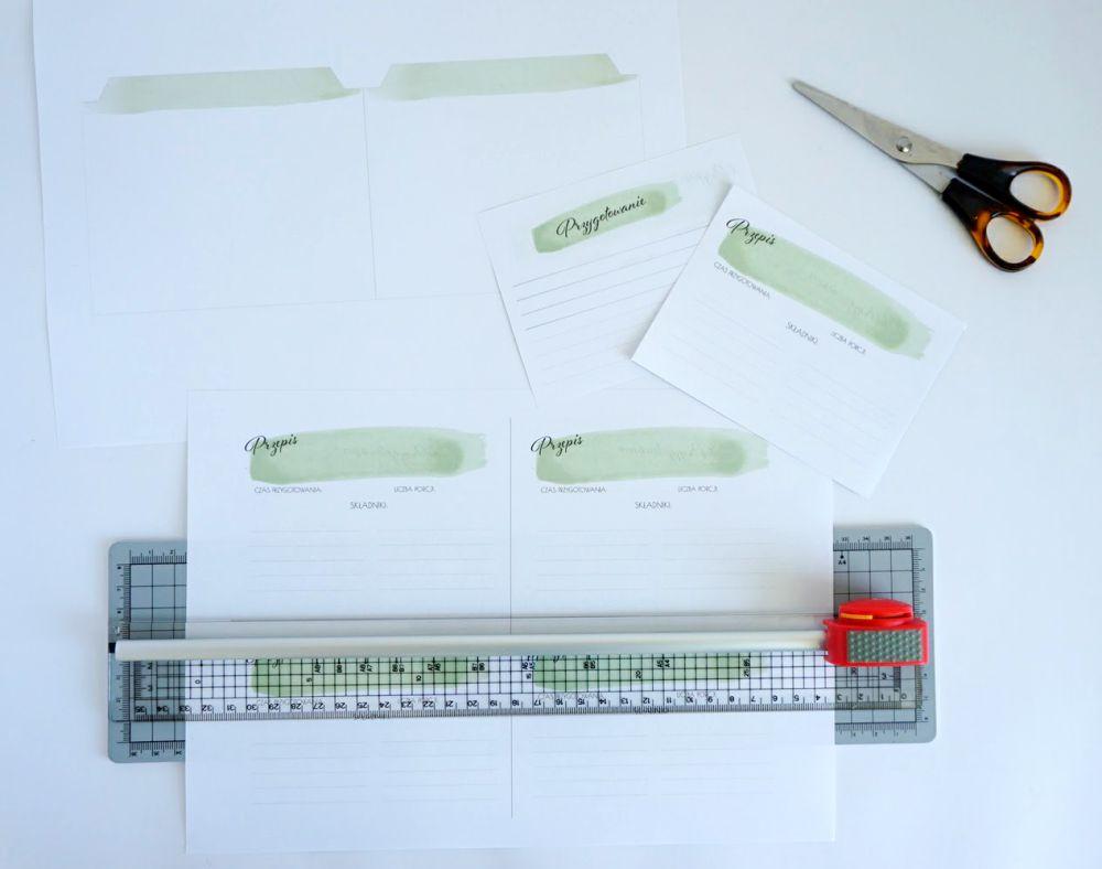 DIY Wkłady do przepiśnika - karty na przepisy do druku