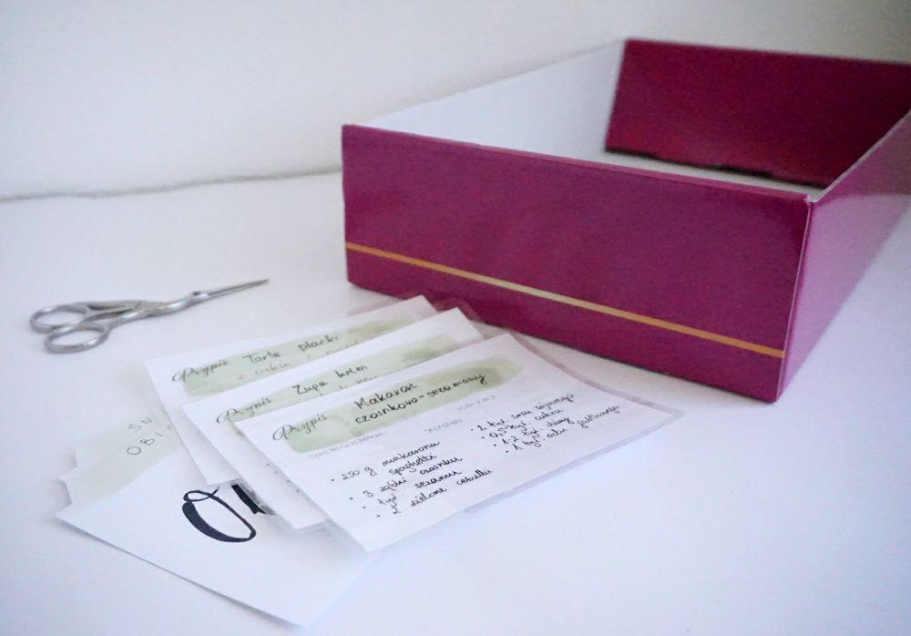 DIY Przepiśnik - karty na przepisy do druku