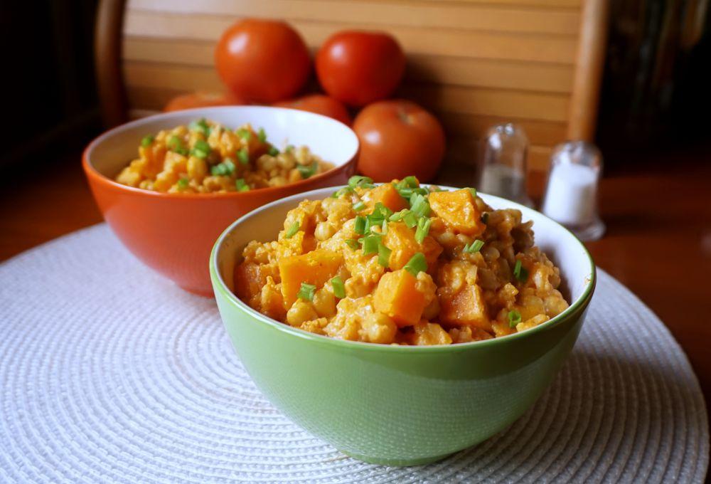 Pomysł na szybki obiad - curry z ciecierzycy i batatów