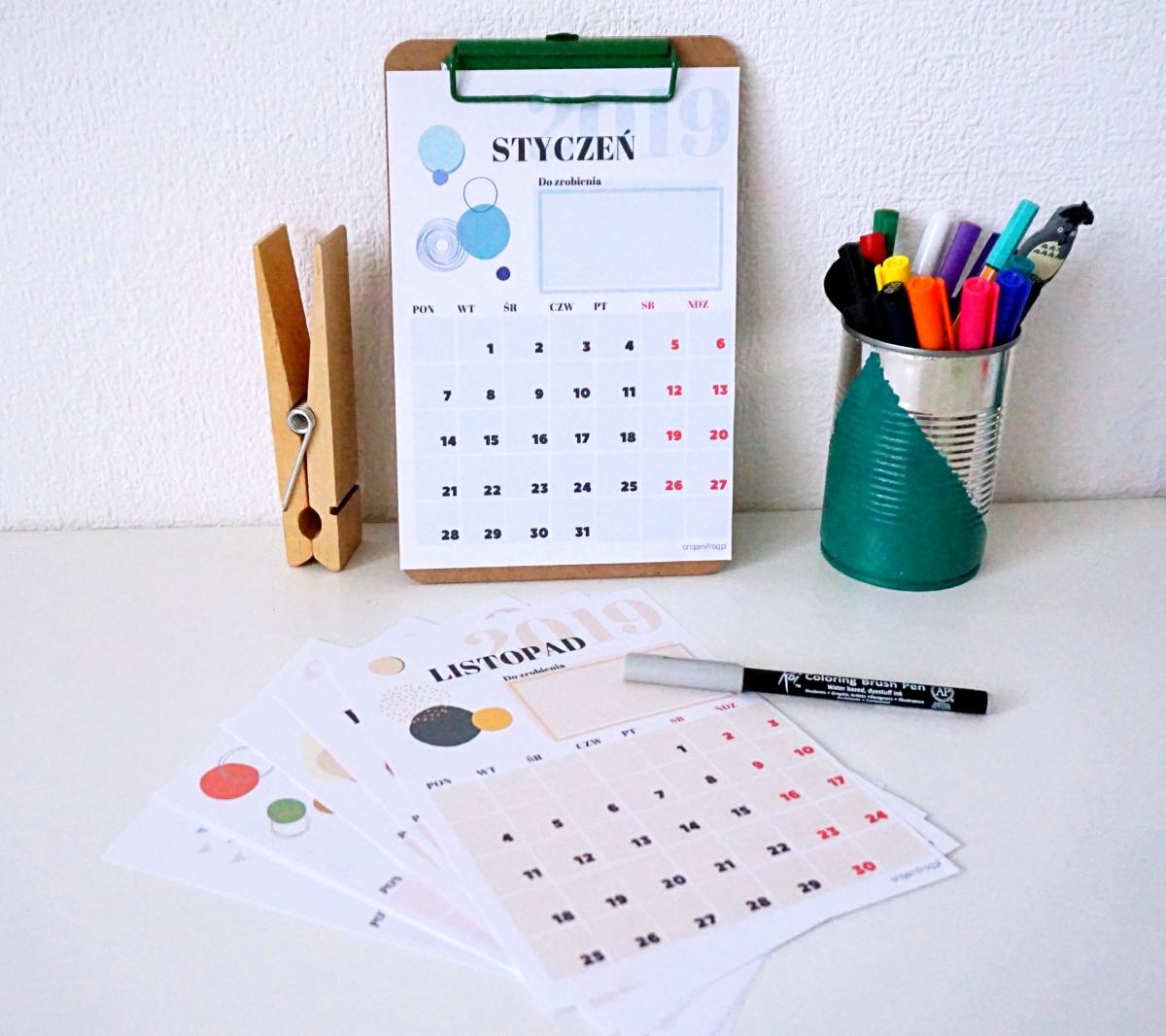 Kalendarz 2019 pdf do druku za darmo