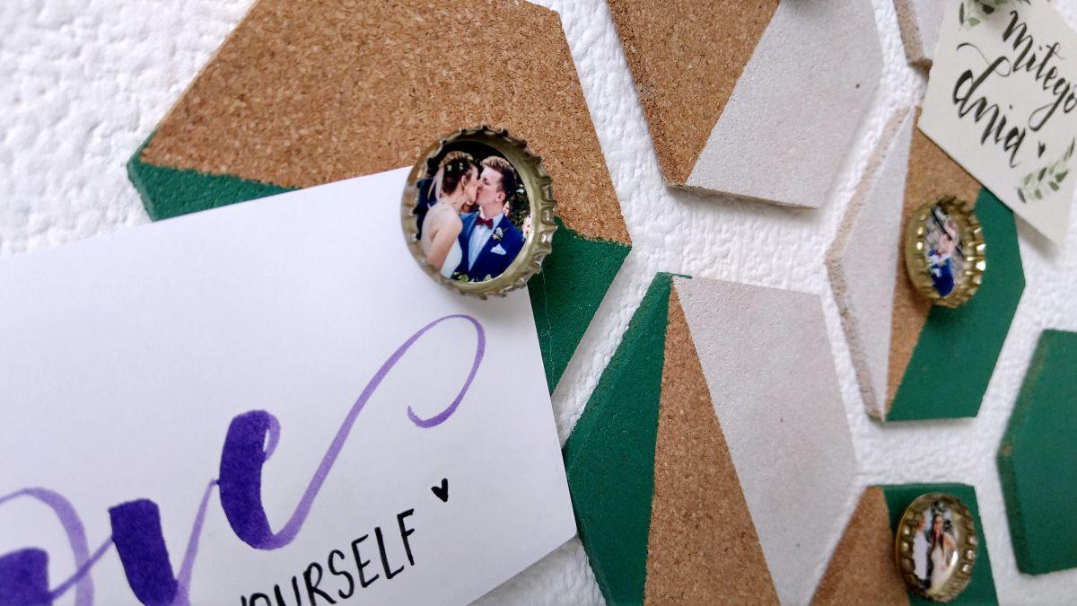 DIY Kapsle po napojach - mini ramki na zdjęcie