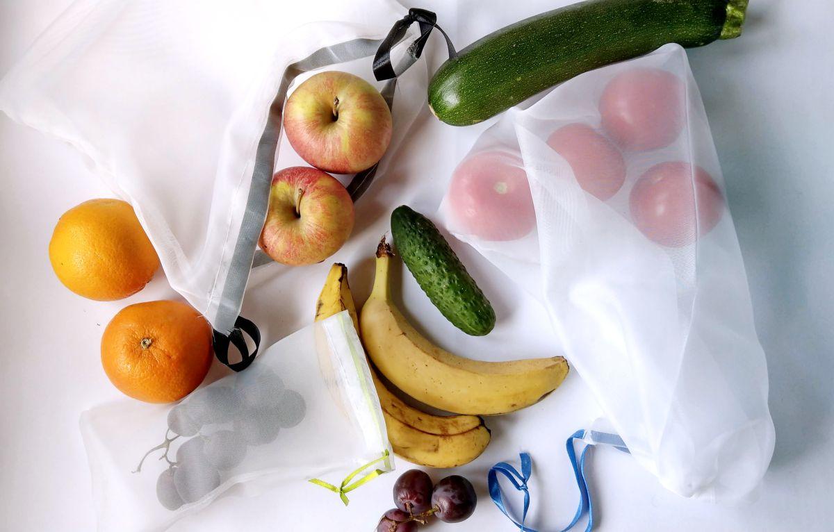 DIY Eco Woreczki na warzywa i owoce z firanki