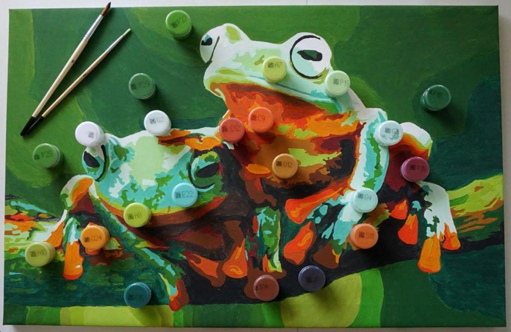 DIY Malowanie po numerach - kolory farb z numerkami