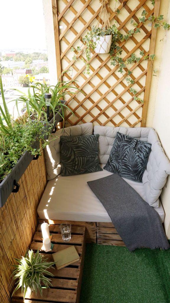 Metamorfoza balkonu - miejsce do siedzenia