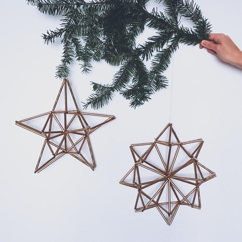 DIY Świąteczne dekoracje - ozdoby ze słomek, himmeli