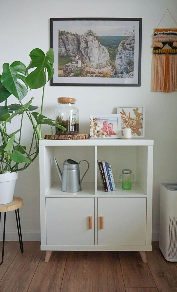 DIY Szybka Metamorfoza szafki Kallax z Ikei
