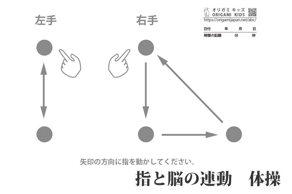 指と脳の連動体操 2拍子と3拍子