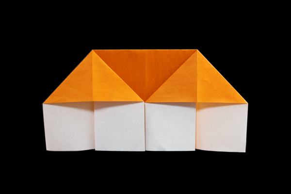 Heres An Easy Origami House That Is Suitable For Kids They Can Also Color And Decorate The Once Youve Finished Folding It