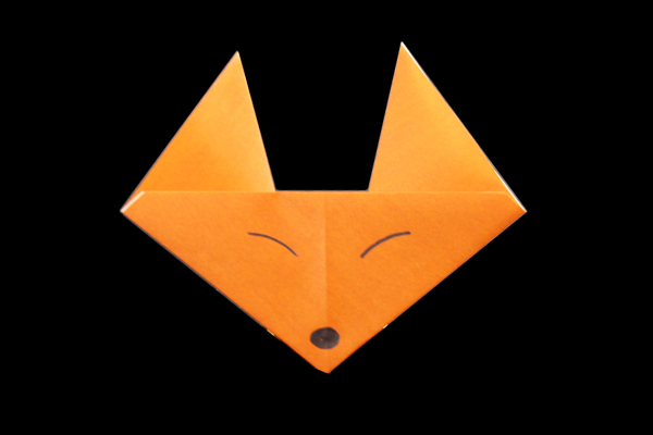 This Is A Simple Cute Looking Origami Fox Face That Easy Enough For Kids To Make On Their Own