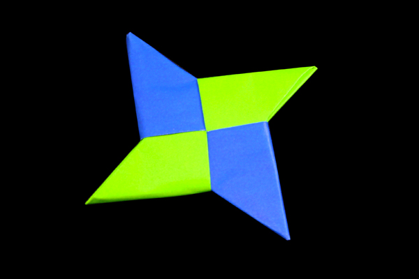 How to make Ninja star – SHURIKEN | Origami instructions and diagram