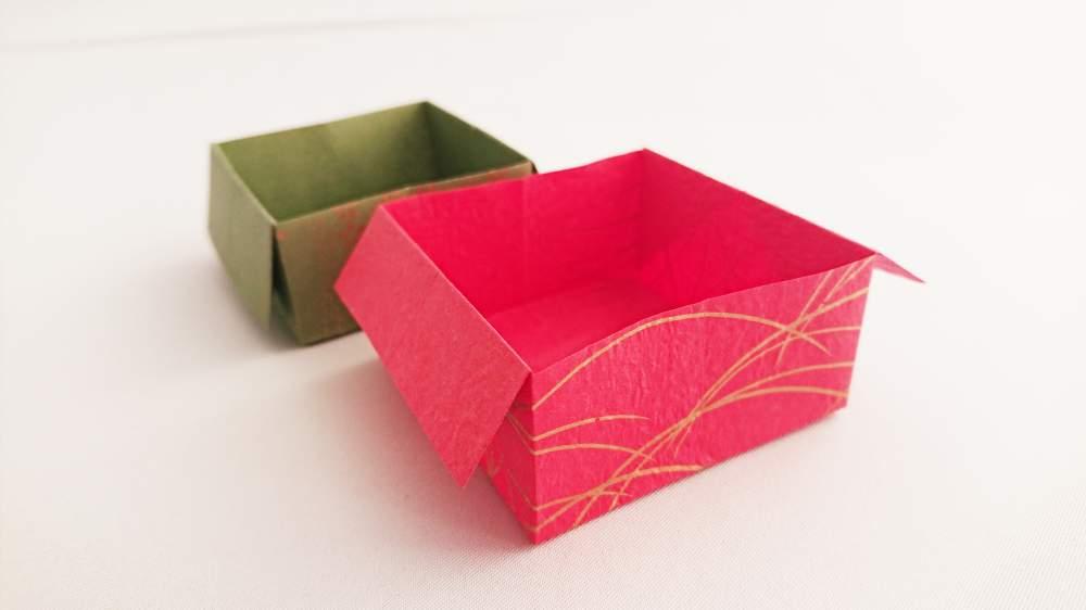 超簡単!1分でできる《折り紙の箱》折り方・作り方