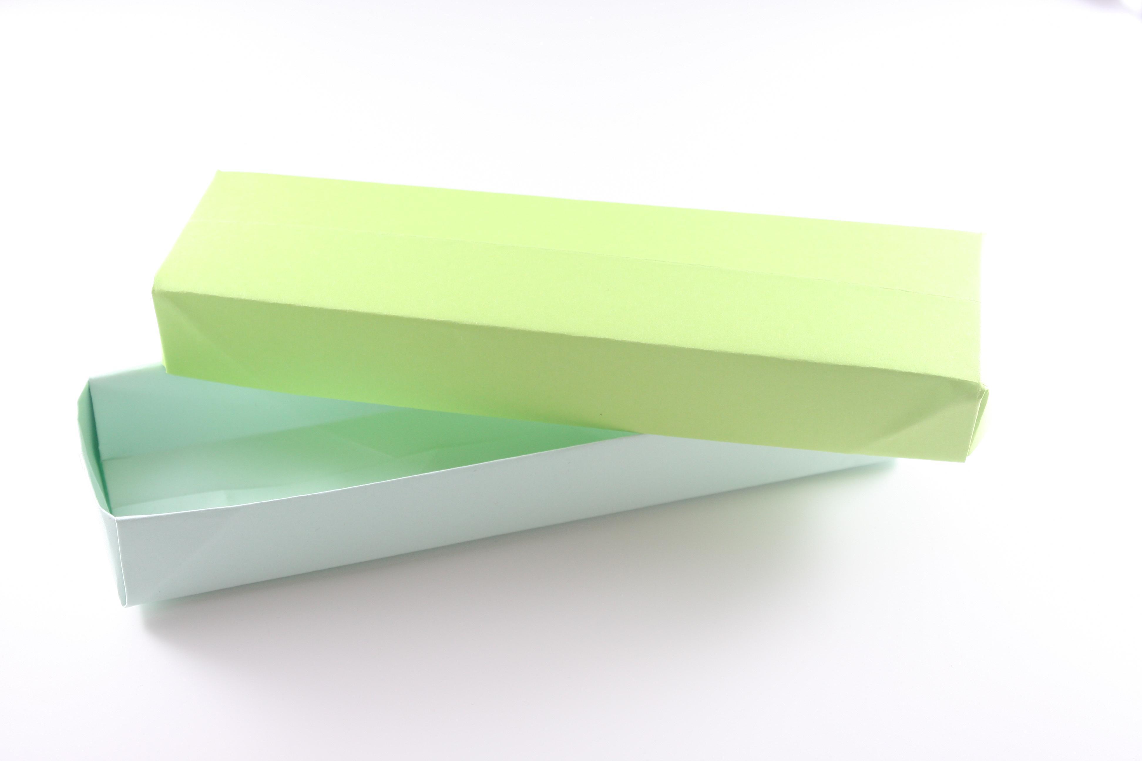 箱の折り方《折り紙》ペンケースにピッタリ細長型