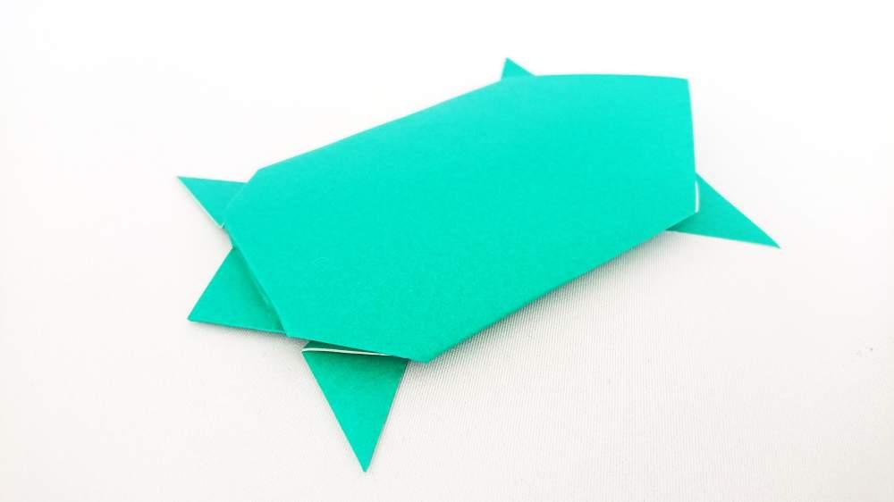 簡単な『カメ』の折り方 お祝いに使える寿亀の折り紙
