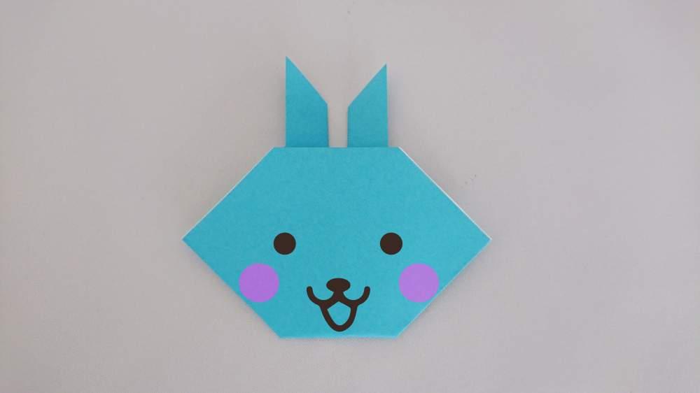 簡単かわいい!折り紙の『うさぎの顔』折り方・作り方