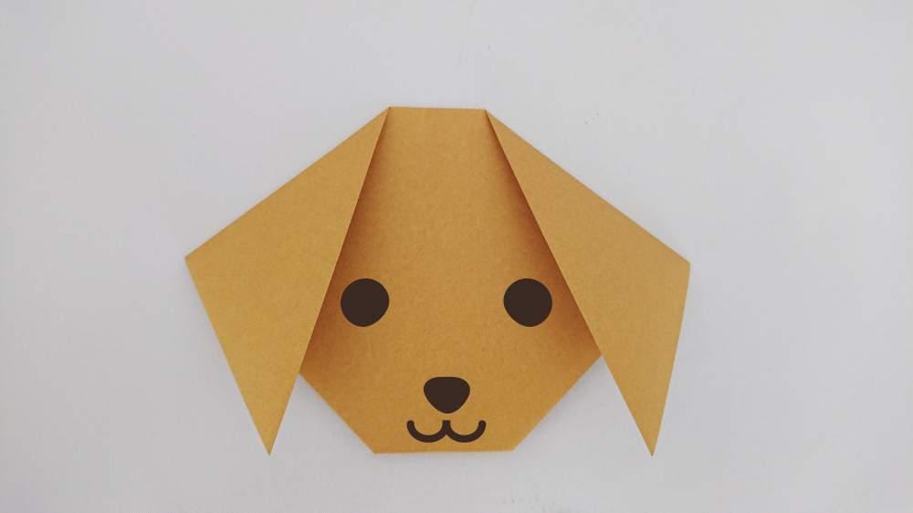 簡単折り紙!かわいい『いぬのかお』の折り方