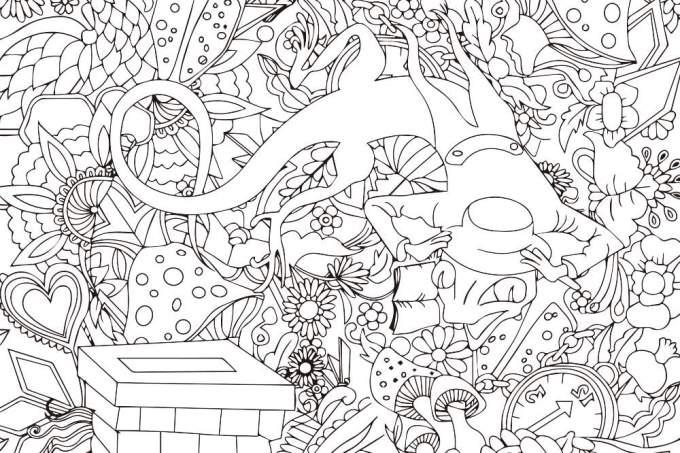 ファンタジーなトカゲの塗り絵無料ダウンロード印刷 折り紙japan