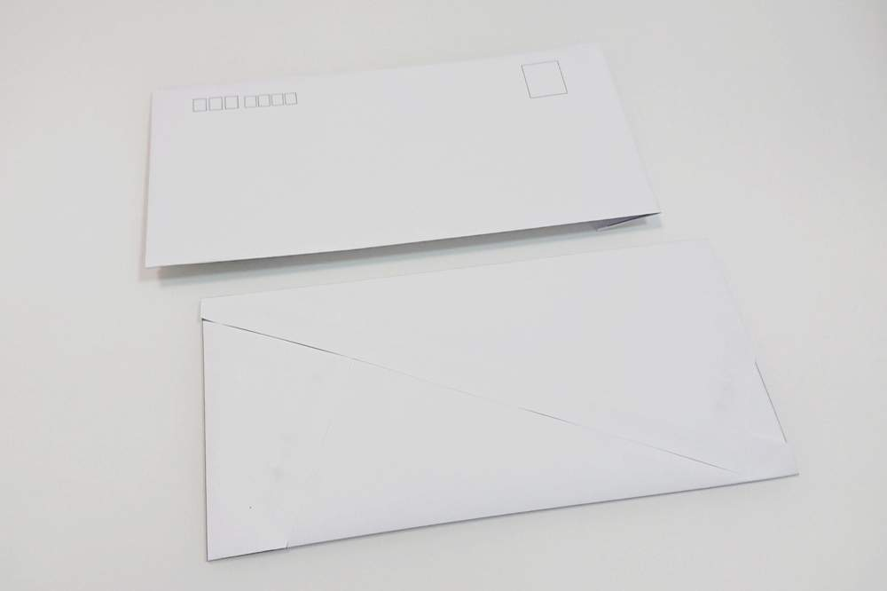 A4用紙とのりで作る封筒 テンプレート|無料ダウンロード・印刷