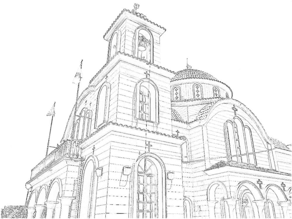 『大人の塗り絵 - 教会』