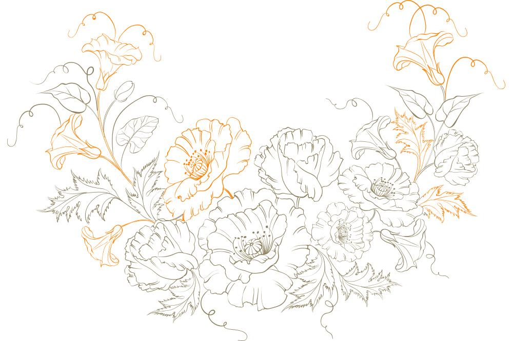 大人の塗り絵 花 無料プリント高齢者の脳トレレク