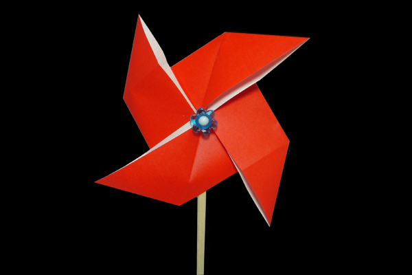 Pinwheel | 100 Easy origami instructions and diagram