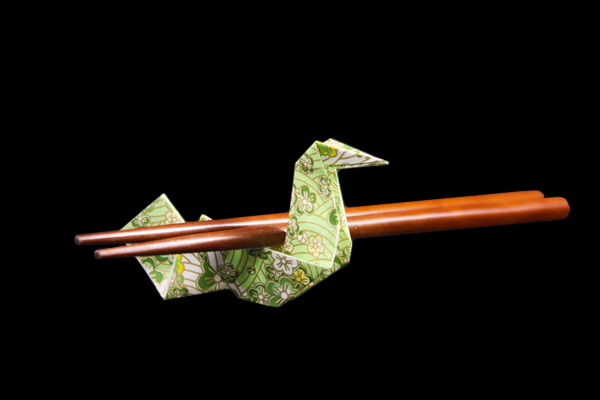 Chopstick Rest – Bird | Easy origami instructions and diagram