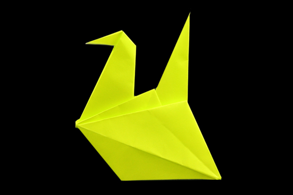 make easy origami instructions kids: origami bird   400x600