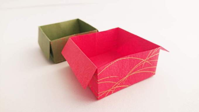 how to make an origami box instructions