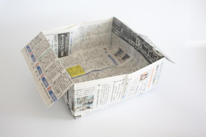 How to make a garbage bag / box with News paper