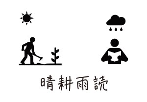 work in the field.../ 晴耕雨読 Cool Japanese KANJI All Design Art free Download