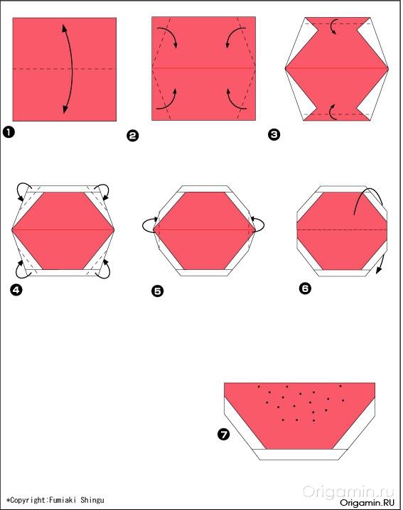 Оригами фрукты из бумаги - Все об оригами