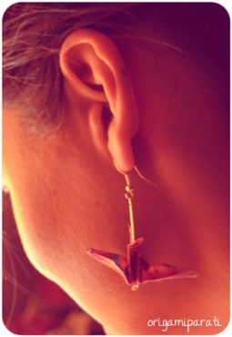 Pendientes de grullas rosas_modelo