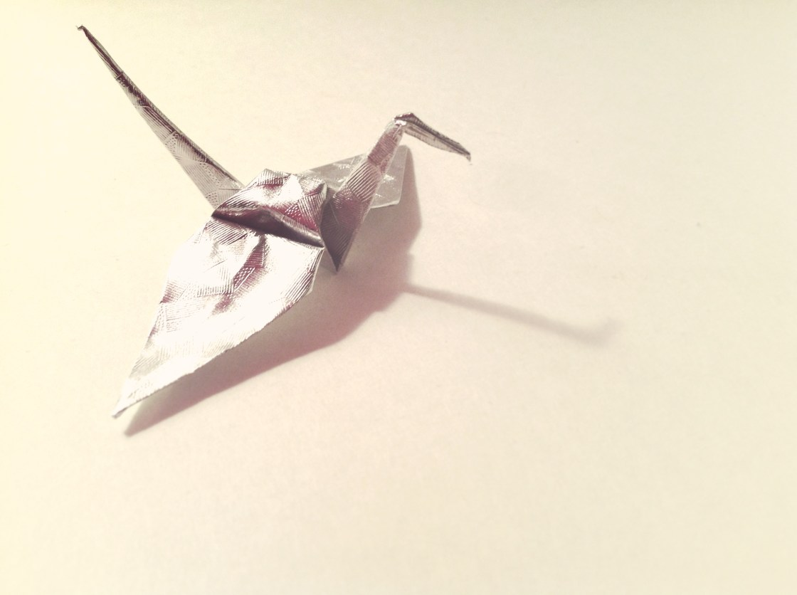 Origami bird by Carrie Gates