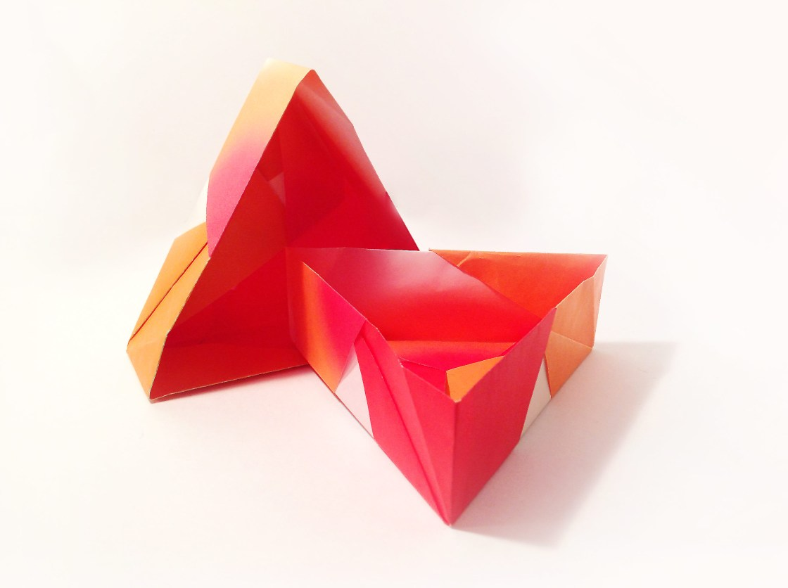 Triangular Origami Box by Carrie Gates