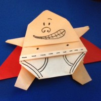 Tra La La! It's Origami Captain Underpants!!