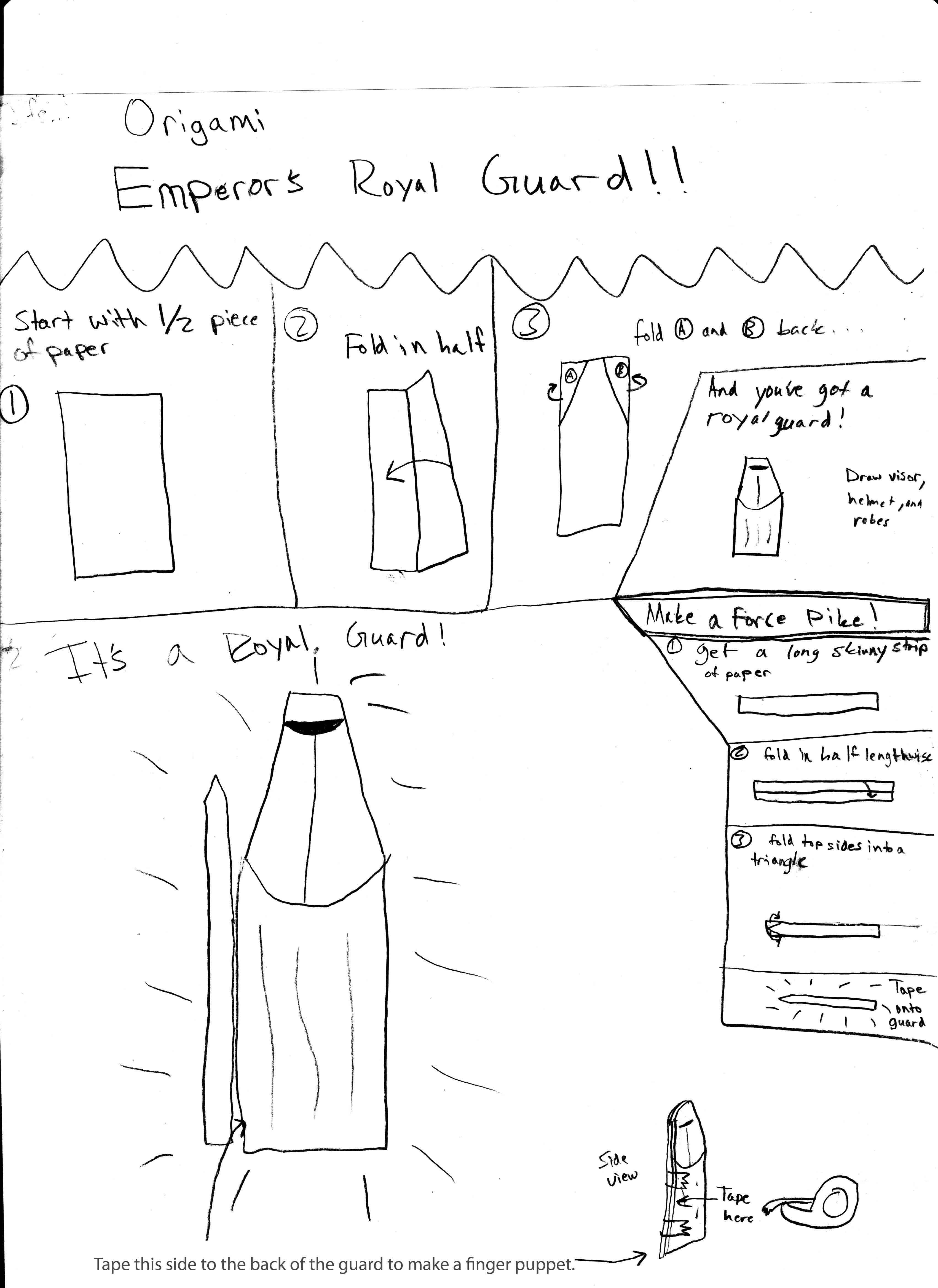 Sf Willk S Origami Wedge Royal Guard Instrux
