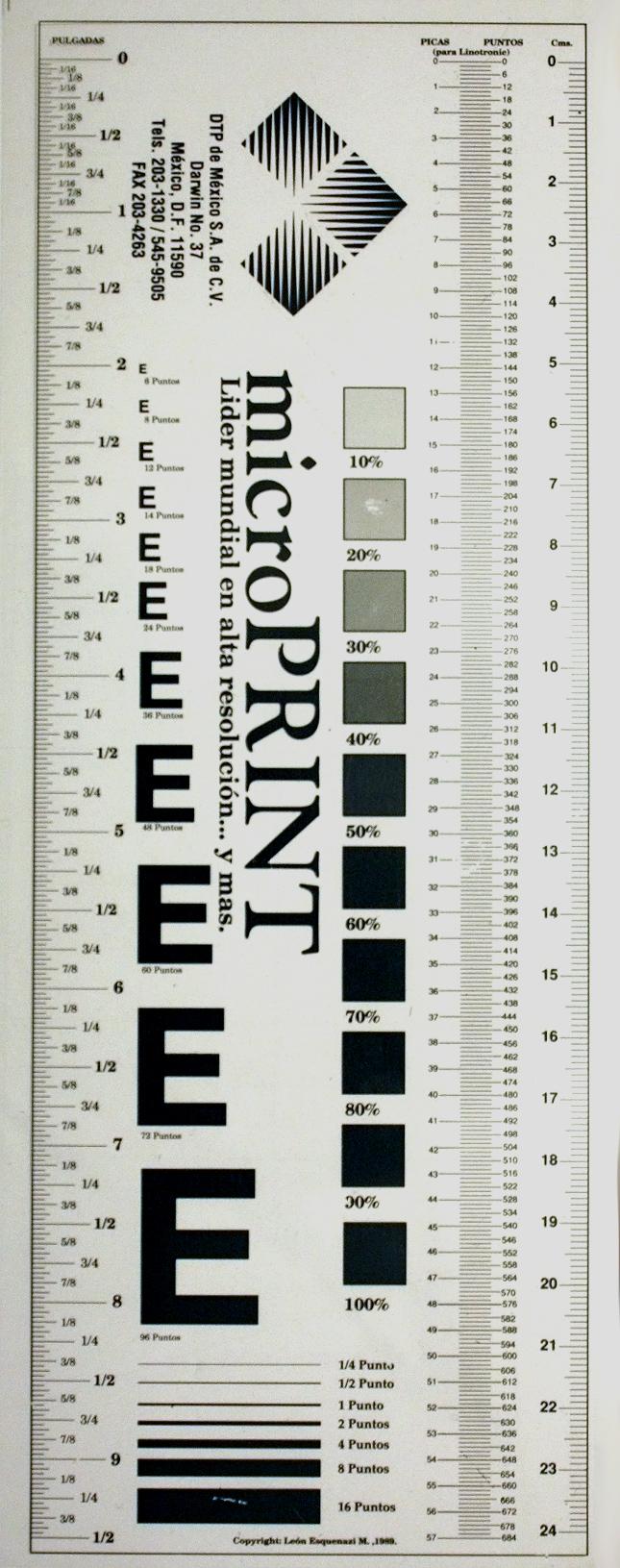 Tipómetro de Acetato