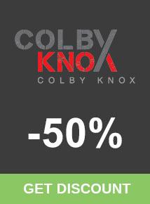 Save 50% at Colby Knox
