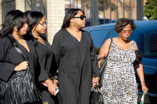 Miriam Carey's family gathers for her funeral service last week in Brooklyn