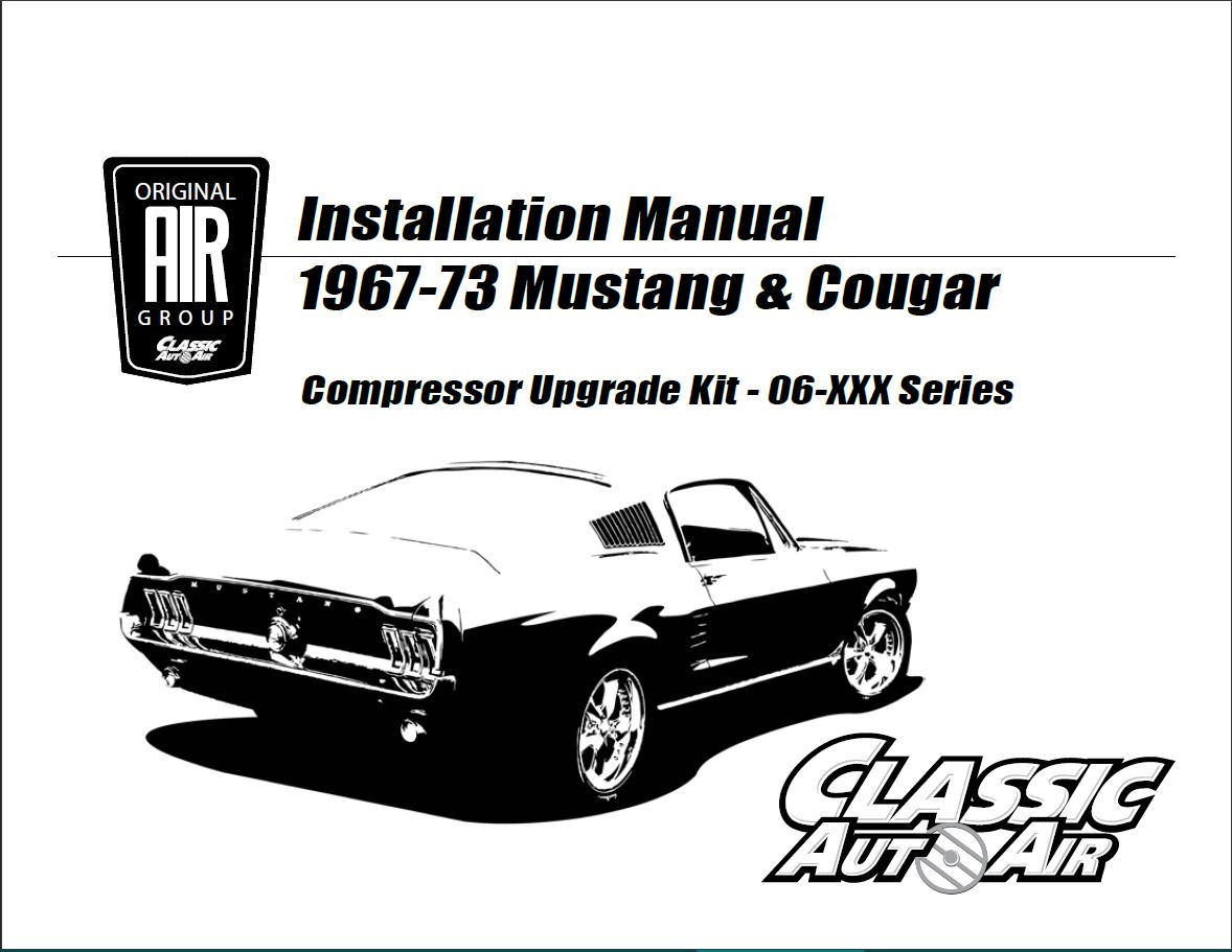69 70 Mustang Cougar A C Compressor Upgrade Kit V8 Stage 1